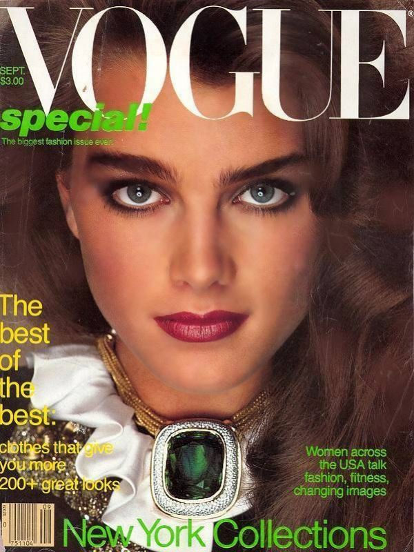 it was likely that the cover model was a teenager like brooke shields